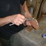 Fitting the Amboyna burl top