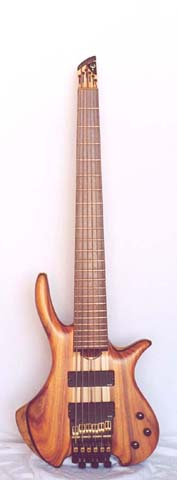 AESTHETICAL 6 (Semi-hollow Electric 6 String Bass)