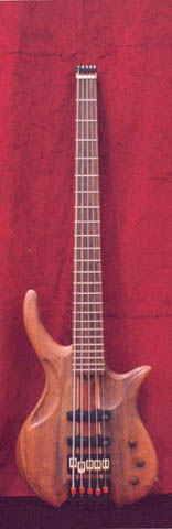 AESTHETICAL 5 (Semi-hollow Electric 5 String Bass)