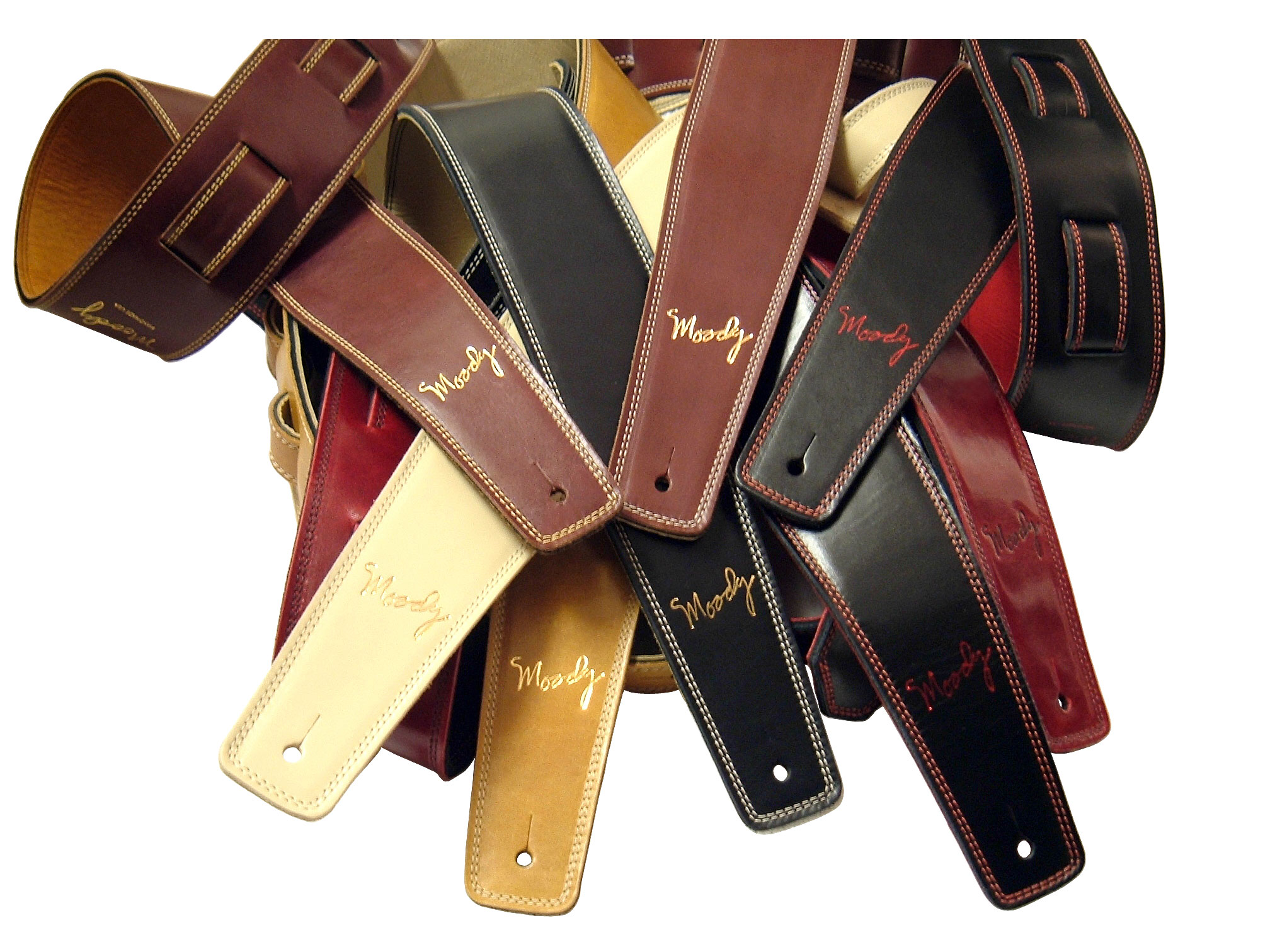 Moody Guitar & Bass Handmade Leather Straps