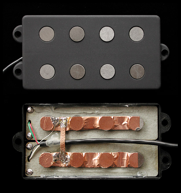 MM4.2 Model / humbucking (dual coil) 4 string MM-type bass pickups